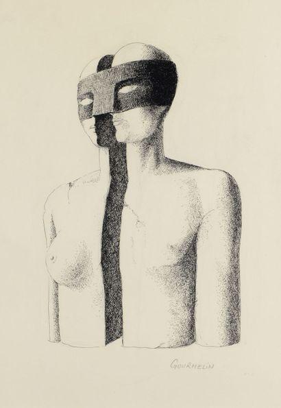 Jean GOURMELIN (1920 - 2011) - Le masque...
