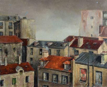 Lucien ARDENNE (1914 - 1993) - Les toits...