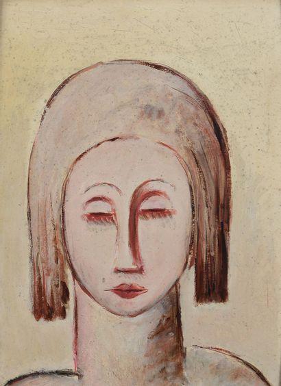 Paul GUILLAUME (1893 - 1934) - Portrait rose...