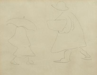 Albert MARQUET (1875 -1947) - Femme au parapluie...