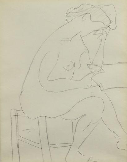 Albert MARQUET (1875 -1947) - Modèle nu au...
