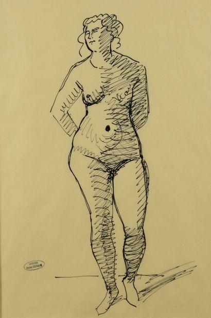 André DERAIN (1880 - 1954) - Nu debout les...