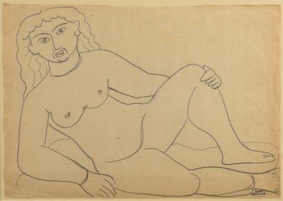 André DERAIN (1880 - 1954) - Nu assis - Deux...