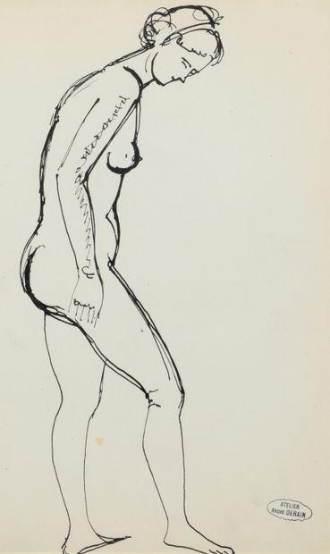 André DERAIN (1880 - 1954) - Nu assis de...