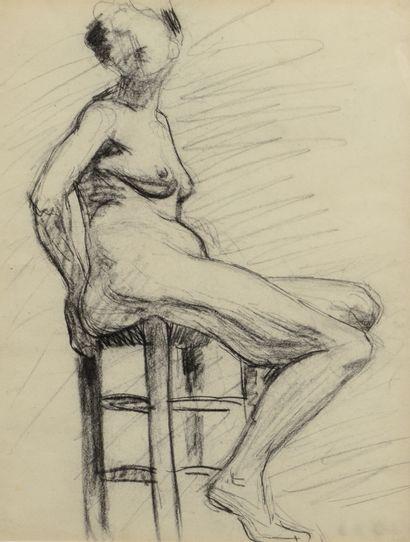 Albert MARQUET (1875 -1947) - Nu assis au...