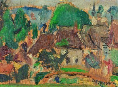 François DESNOYER (1894 -1972) - Village...