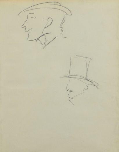 Albert MARQUET (1875 -1947) - Etude de profils...