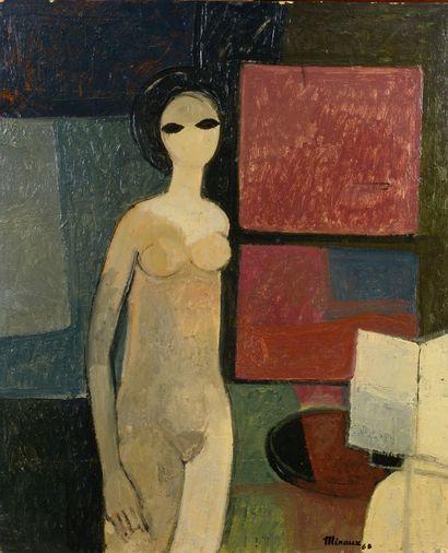 André MINAUX (1923 - 1986) - Nu, 1968 - Huile...