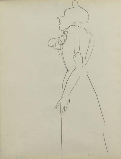 Albert MARQUET (1875 -1947) - Etude de femme...