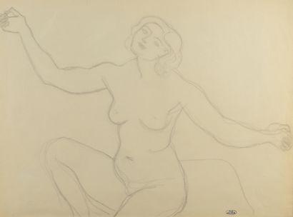 André DERAIN (1880 - 1954) - Femme nue assise...