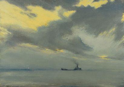 Jef van HOOF (1928 - 1986) - Vapeur - Huile...