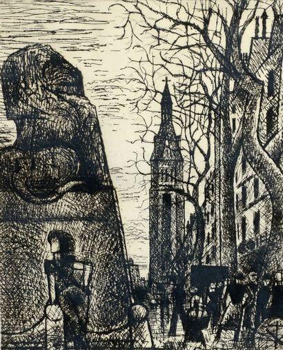 Marcel GROMAIRE (1892 - 1971) - Le Lion de...