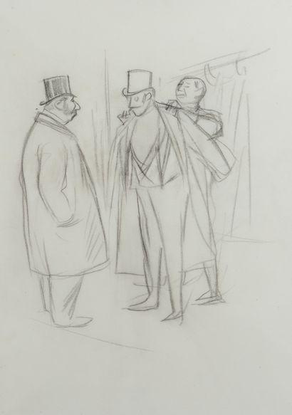 Jean-Louis FORAIN (1852 - 1931) - Au vestiaire...