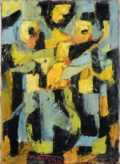 Tony AGOSTINI (1916 - 1990) - Vase aux fleurs...