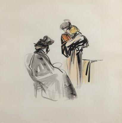 Jean-Louis FORAIN (1852 - 1931) - La visite...