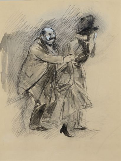 Jean-Louis FORAIN (1852 - 1931) - La rupture...