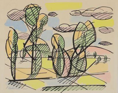 Emile LAHNER (1893 - 1980) - Paysage, 1925...