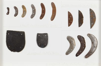 Thierry AGULLO (1945 - 1980) - 2 supports et 12 protections, 1973 - Collages de...