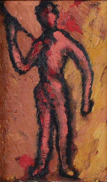 Robert HELMAN (1910 - 1990) - Nu rouge, 1957...
