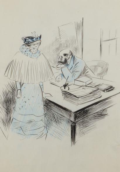 Jean-Louis FORAIN (1852 - 1931) - Chez le...