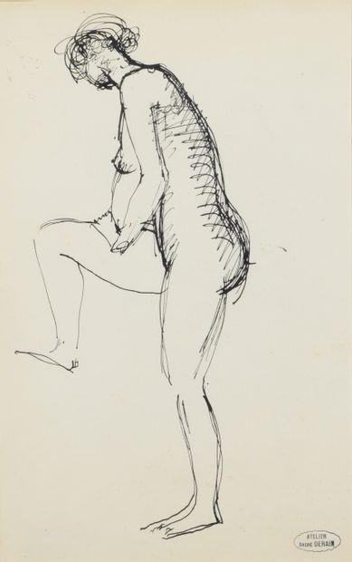 André DERAIN (1880 - 1954) - Nu debout de...