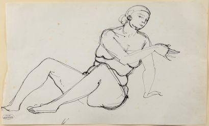André DERAIN (1880 - 1954) - Etude de modèle...