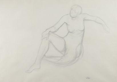 André DERAIN (1880 - 1954) - Nu assis, maternité,...