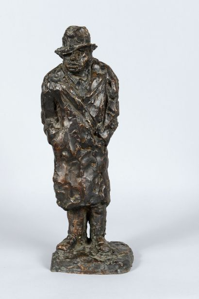 Arbit BLATAS (1908 - 1999) - Portrait de Chaim Soutine - Epreuve en bronze patiné,...