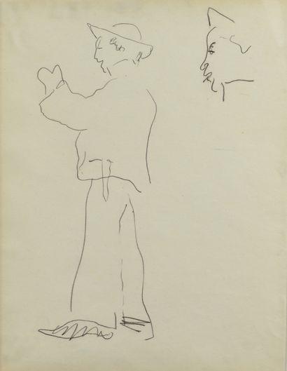 Albert MARQUET (1875 -1947) - Etude d homme...