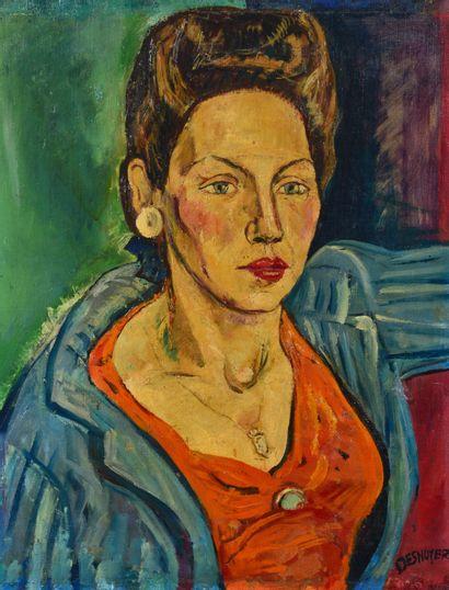 François DESNOYER (1894 - 1972) - Portrait...