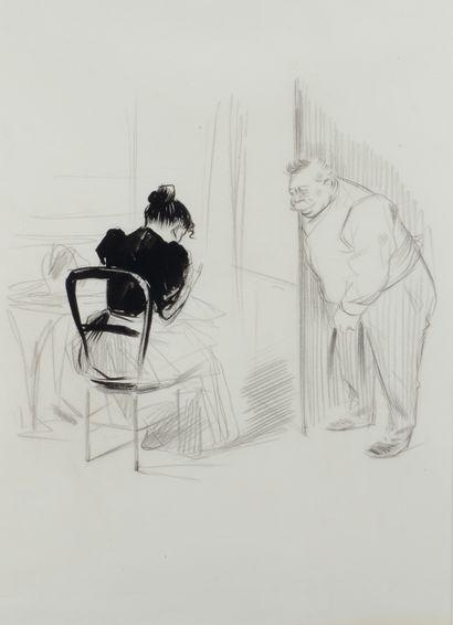 Jean-Louis FORAIN (1852 - 1931) - L indiscret...