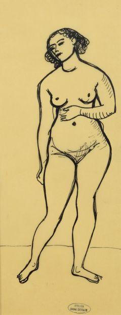 André DERAIN (1880 - 1954) - Nu debout -...