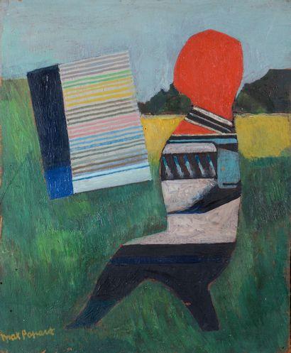 Max PAPART (1911 - 1994) - Paysagisme - Huile...