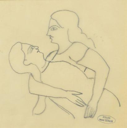 André DERAIN (1880 - 1954) - Couple - Nu...