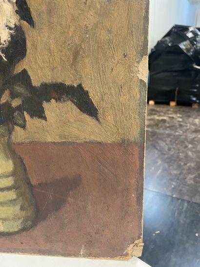 Bencjon RABINOWICZ dit BENN (1905 - 1989) - Vase à la fleur blanche - Huile sur...