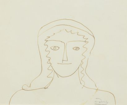 André DERAIN (1880 - 1954) - Femme en buste...