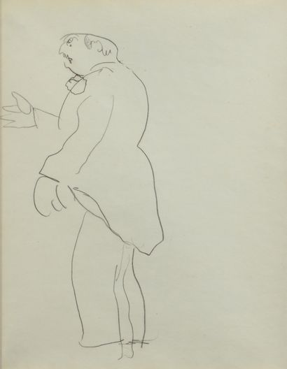 Albert MARQUET (1875 -1947) - Homme la main...