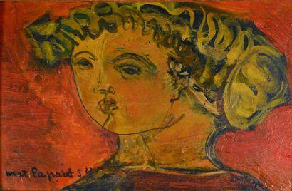 Max PAPART (1911 - 1994) - Tëte antique fond...