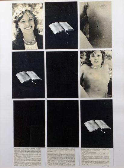 Jean-François BORY (né en 1938) - Sans titre, tirages noir et blanc, signé en bas...