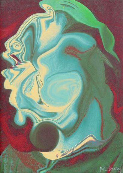 POL BURY (1922 - 2005) - Portrait d'homme,...