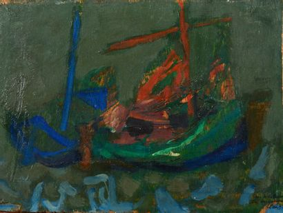 Antoni CLAVÉ (1913 - 2005) Barques de pêches...