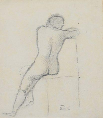 André DERAIN (1880 - 1954) - Etude de nu...