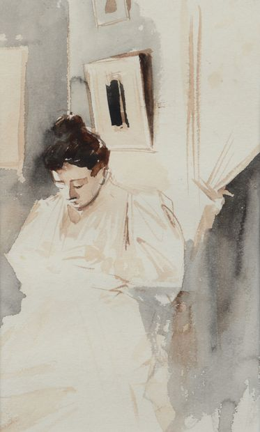 Jean-Louis FORAIN (1852 - 1931) - La couture...
