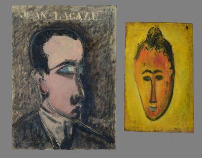 Paul GUILLAUME - Jean LACAZE, 1922 - Masque...