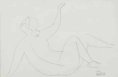 André DERAIN (1880 - 1954) - Nu accoudé -...