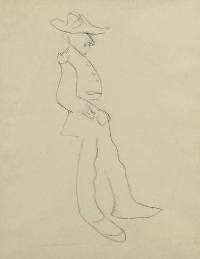 Albert MARQUET (1875 -1947) - Homme au bicorne...