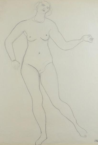 André DERAIN (1880 - 1954) - Femme nue debout...