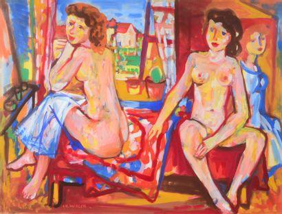 Charles WALCH (1896 - 1948) - Deux nus devant...