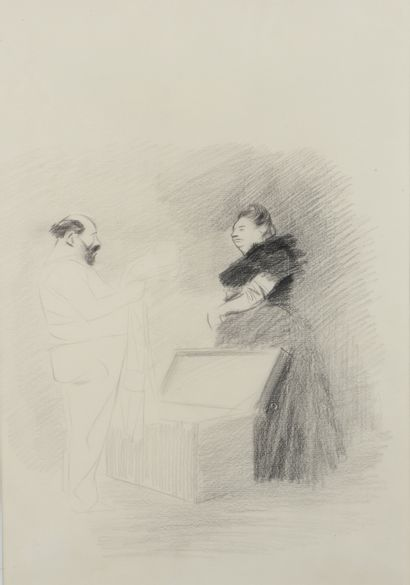 Jean-Louis FORAIN (1852 - 1931) - La malle...