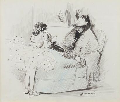 Jean-Louis FORAIN (1852 - 1931) - Le collier...